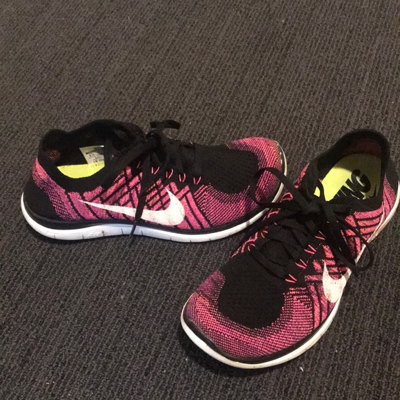 Nike Pink Running Barefoot Ride Flyknit Shoes